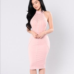 Dresses & Skirts - Pink studded dress